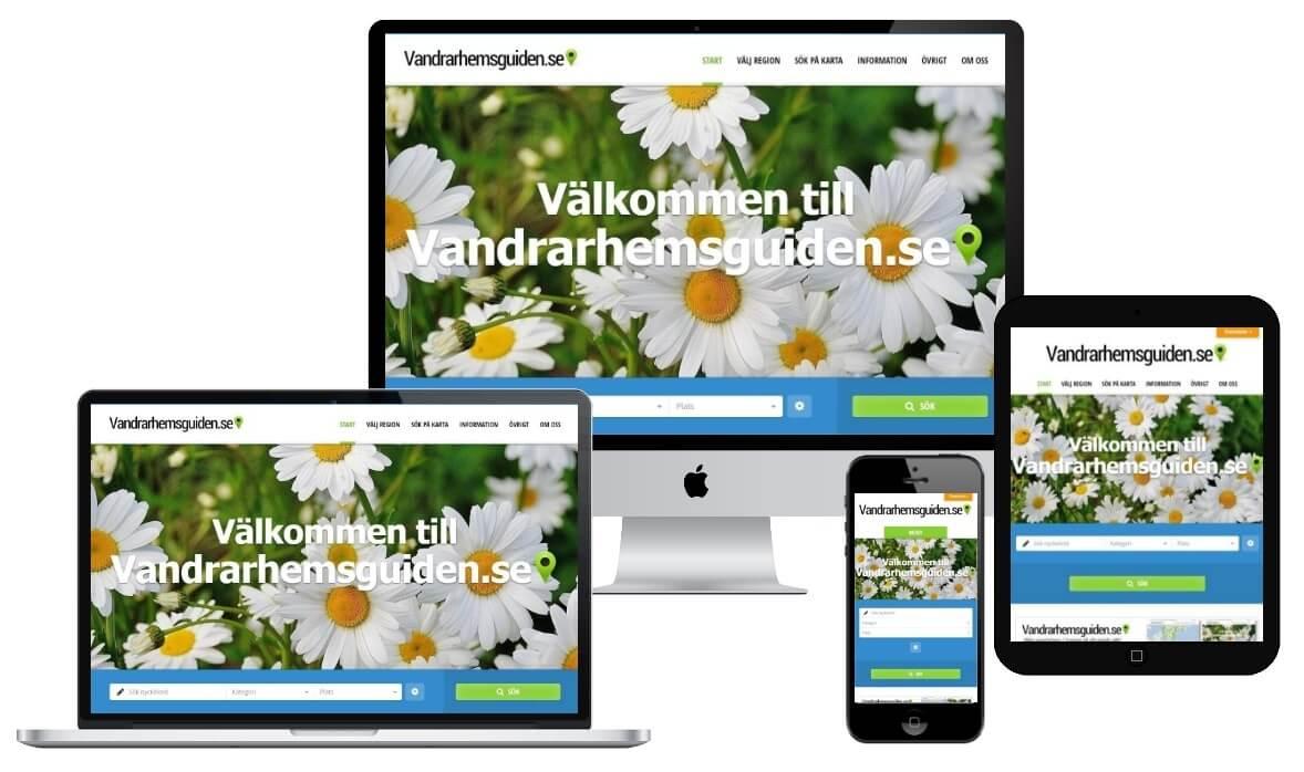 Vandrarhemsguiden.se -Auto responsive